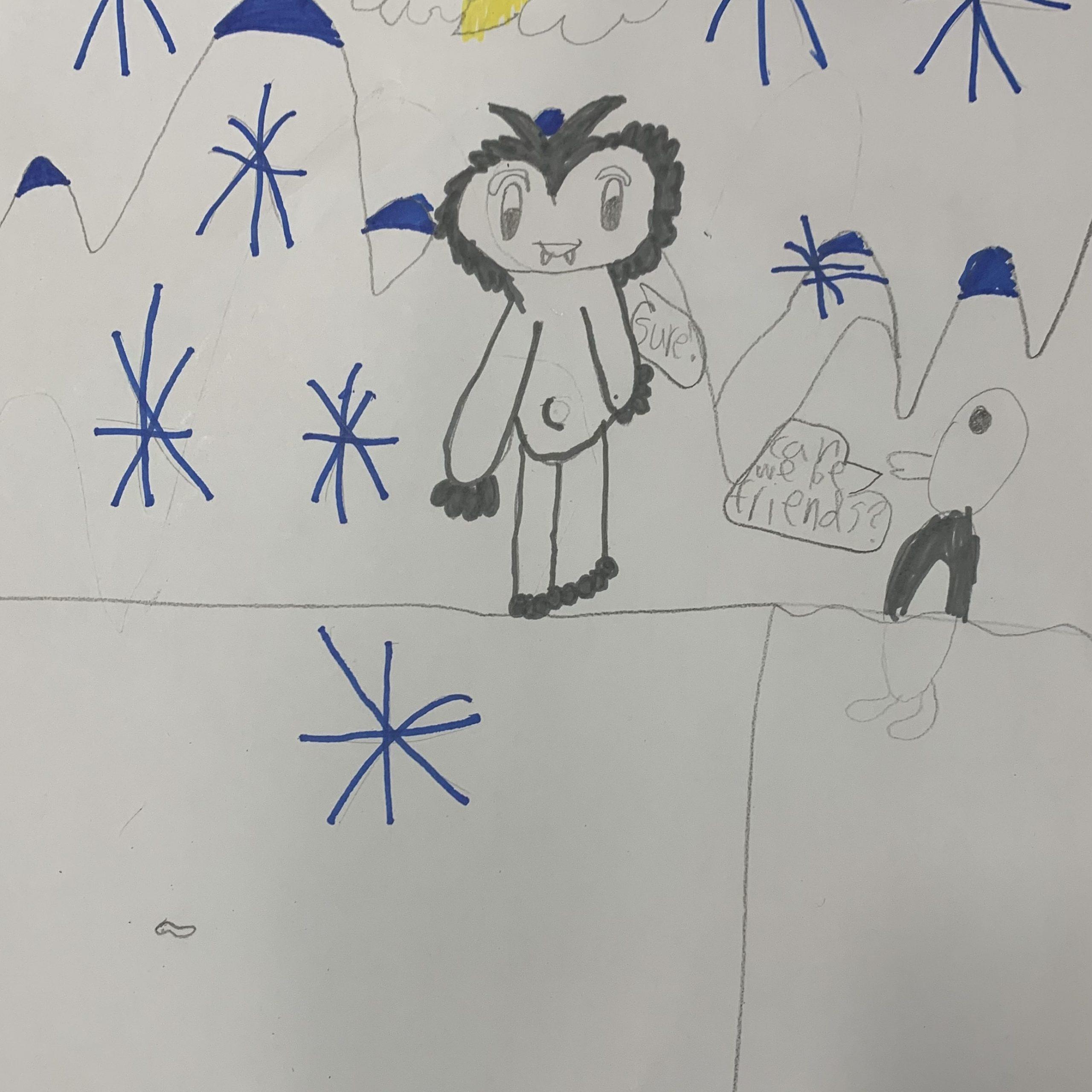 yeti and penguin kristi h