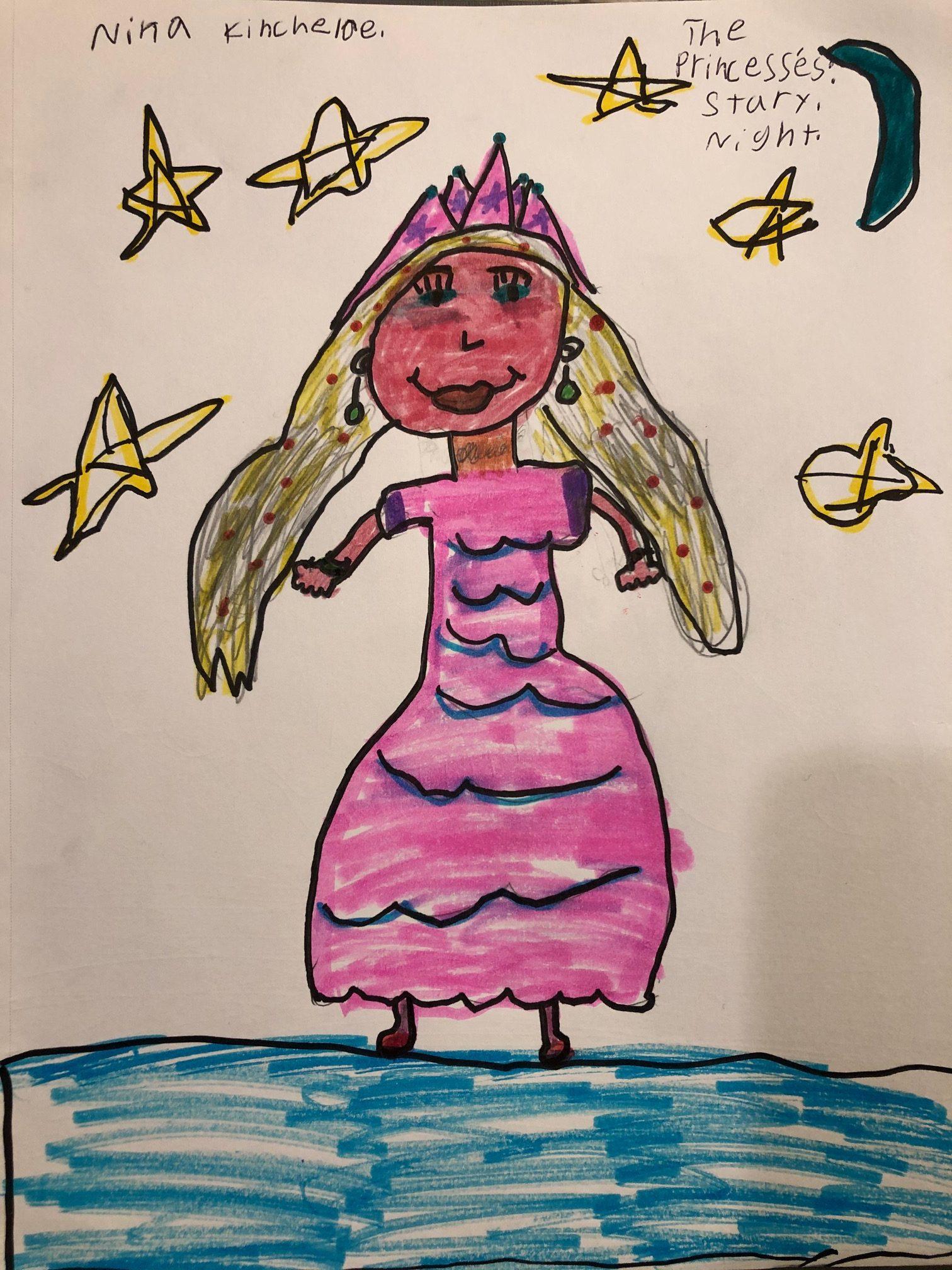 carnival princess starry night by nina kincheloe 2nd grade