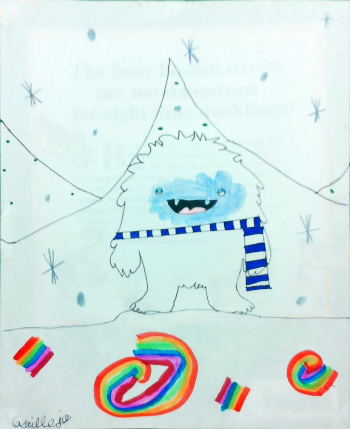 yeti in a snowstorm castilleja 3rd grade