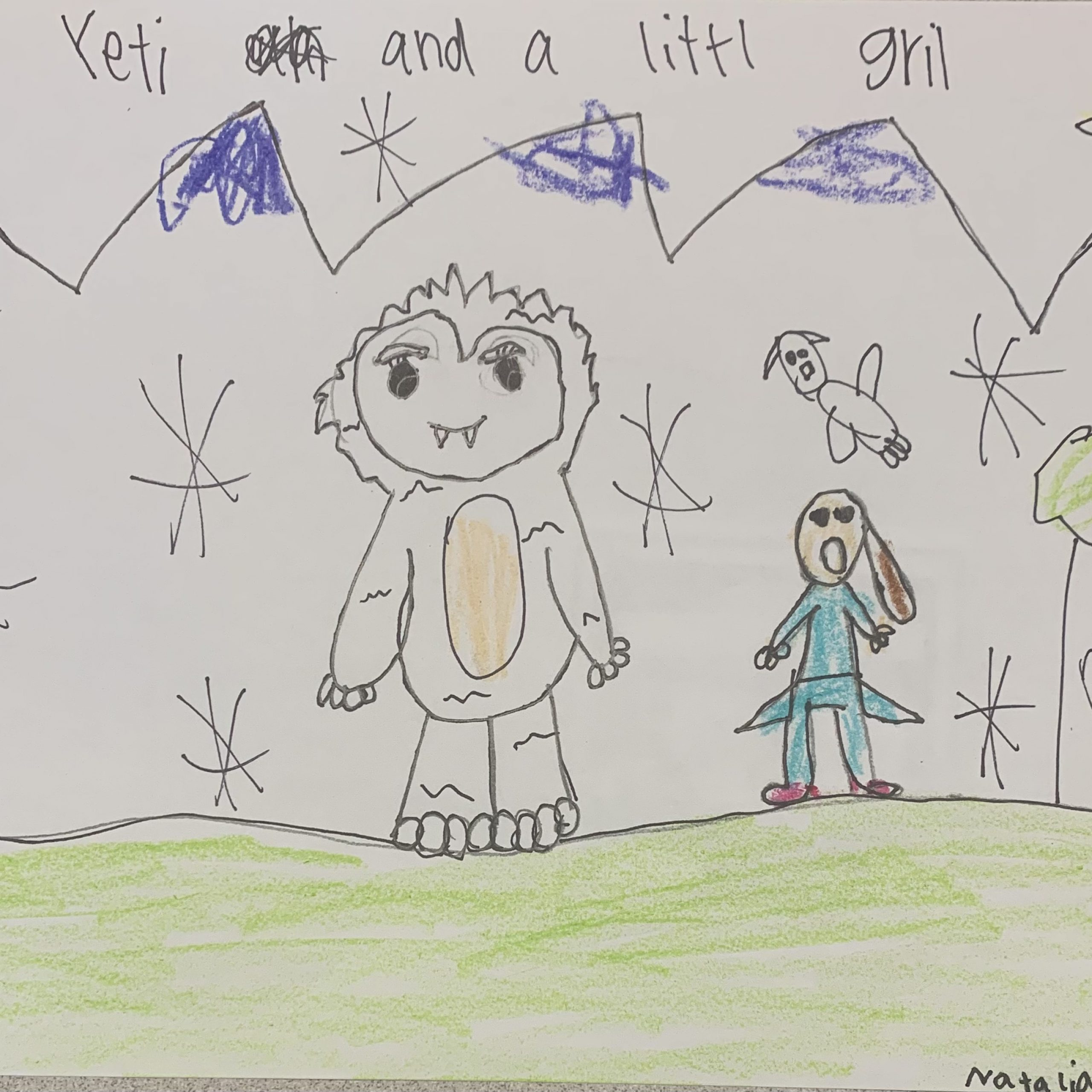 yeti and a little girl natalia h