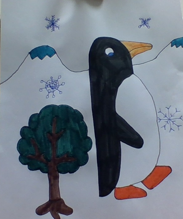 penguin in winter kaya 4th grade