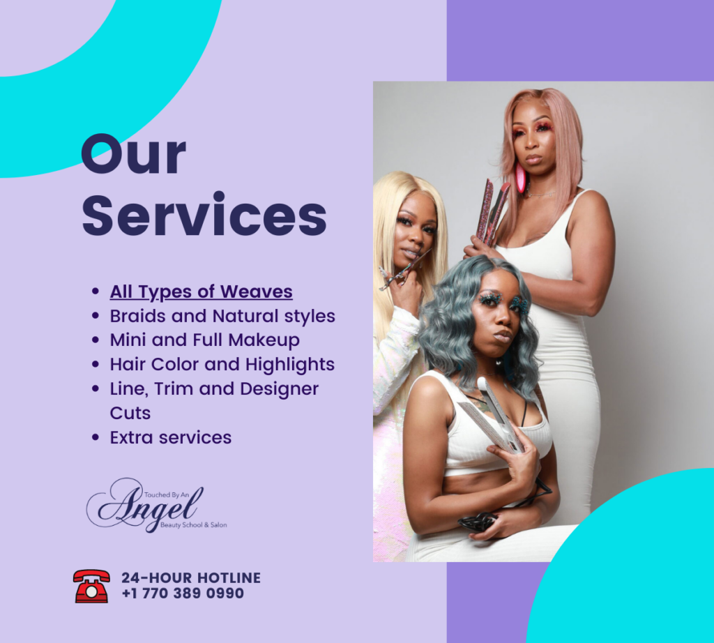 Touched By an Angel Salon - Services