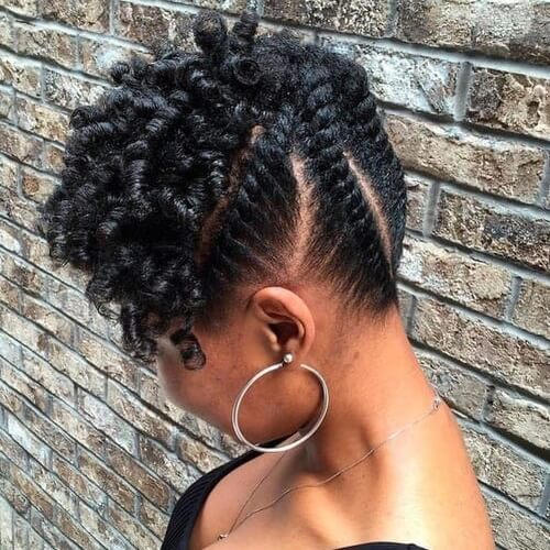 Protective hairstyles for hair transition