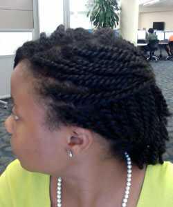 how to make natural hair mini twist?
