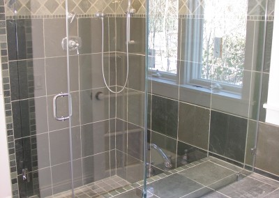 European shower with clips and six inch handle
