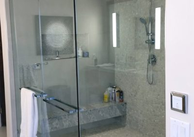 large steam shower glass scottsdale