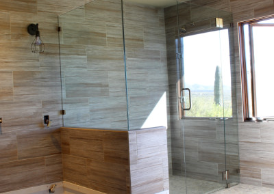 Modern shower glass