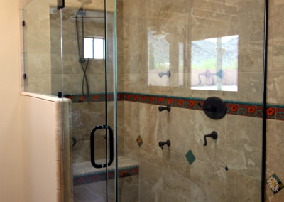 Corner shower doors clear glass