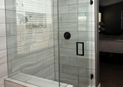 Clear glass frameless Scottsdale shower