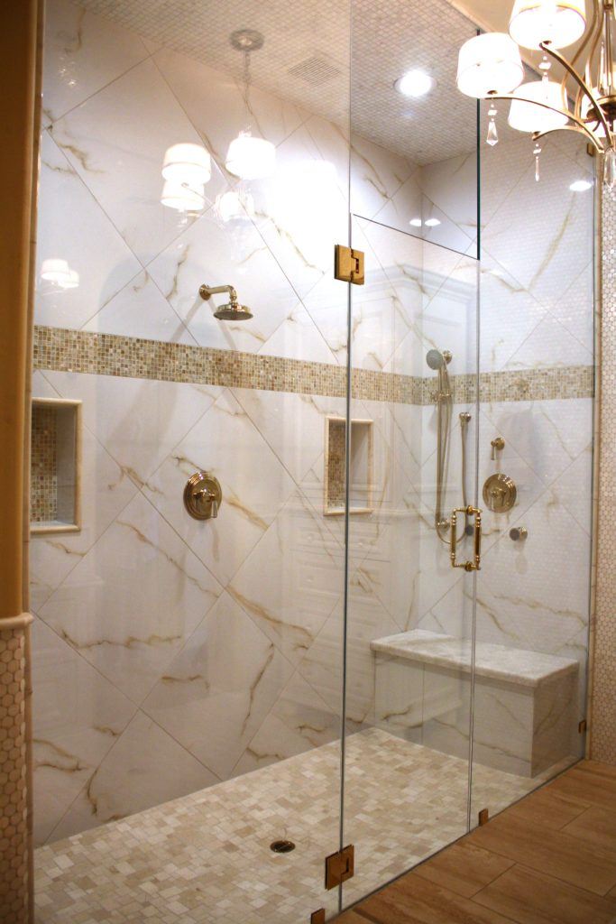 Half inch low iron shower glass