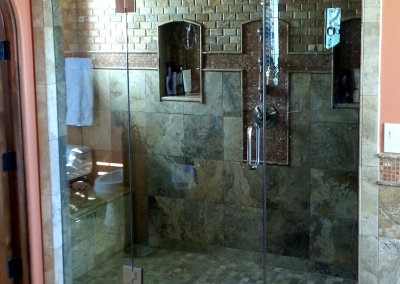 Arched top steam shower