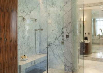 Half inch floor to ceiling steam shower paradise valley