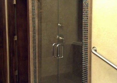 Double shower doors with no curb paradise valley