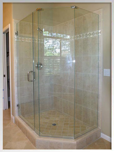 Neo angle Scottsdale home shower