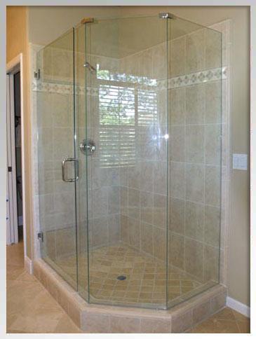 Neo angle Scottsdale home shower