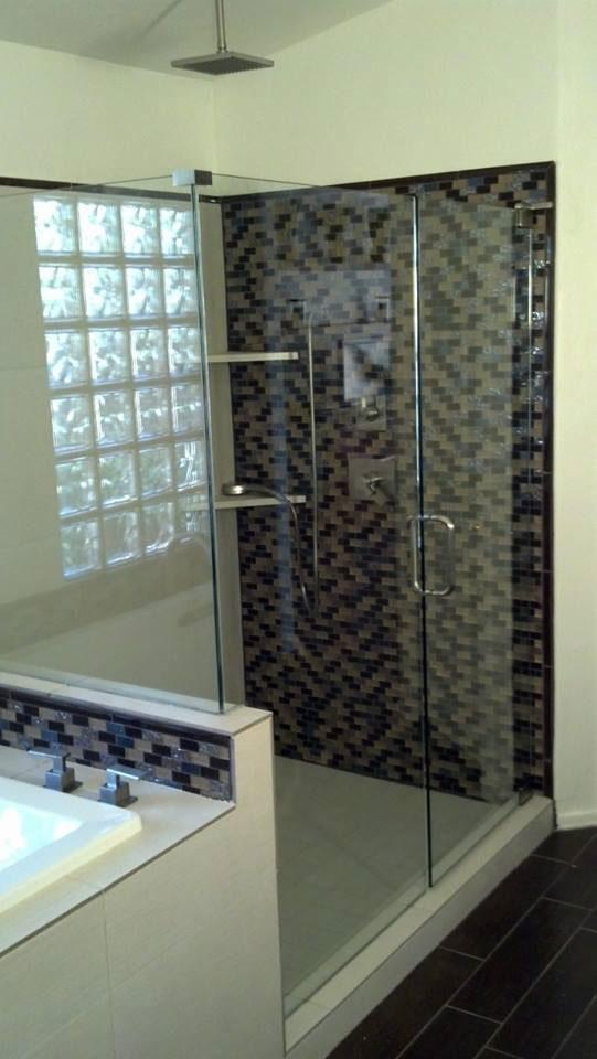 Install Shower Door On Glass Tile