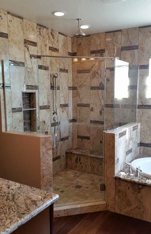 Neo angle shower with no header