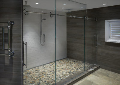 barn door shower