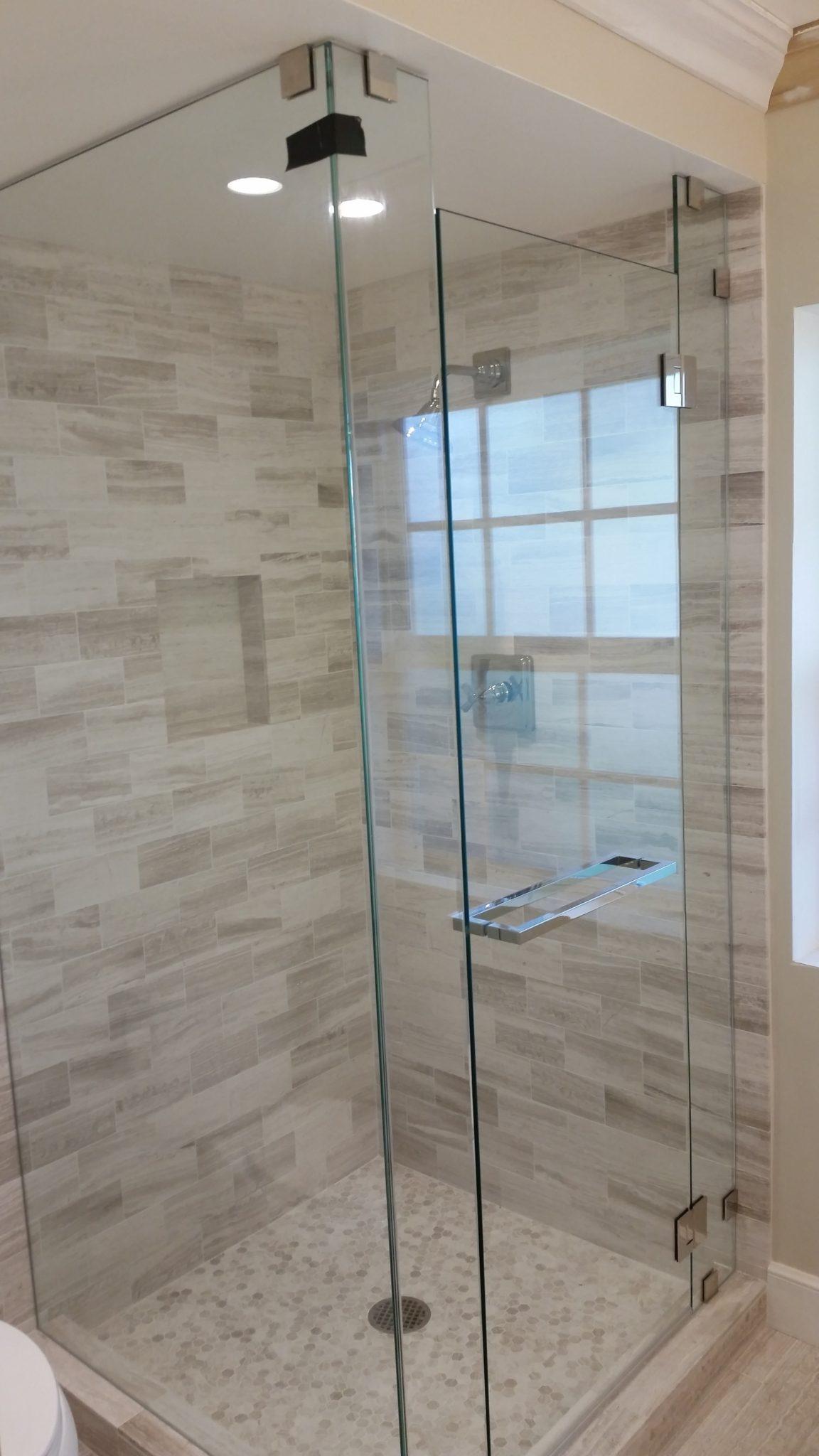 Floor To Ceiling Frameless Shower