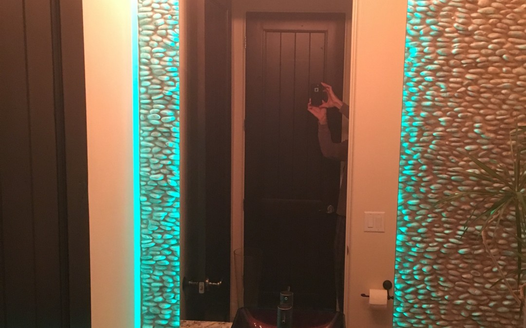 Modern Standoff Mirrors with LED lighting