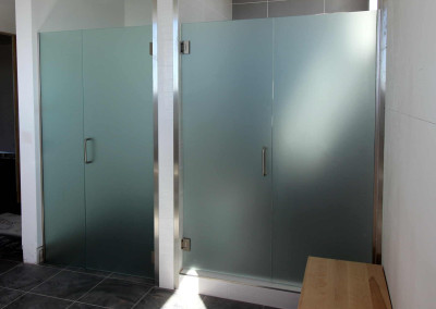 Sandblasted shower glass scottsdale