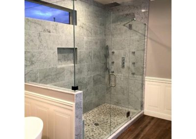 Walk in shower frameless large