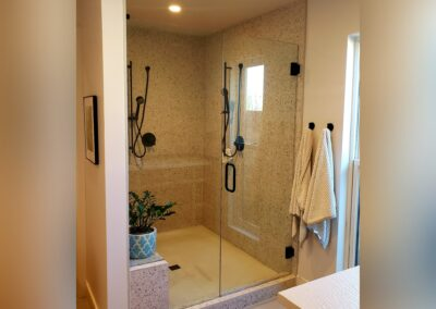 frameless glass walk in shower