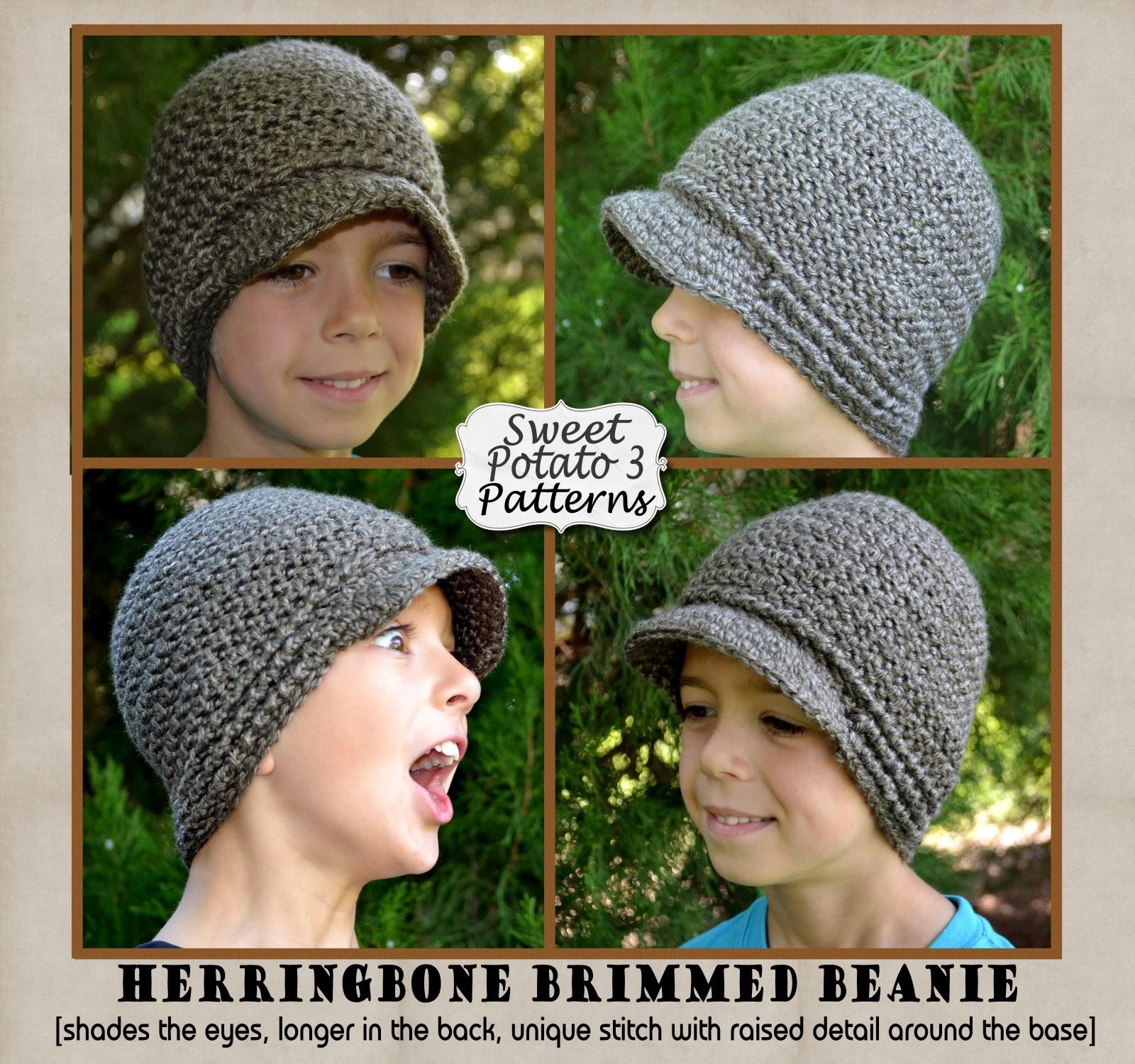 Herringbone Brimmed Beanie Pattern Release