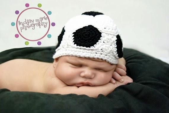 Soccer Ball Crochet Hat Pattern