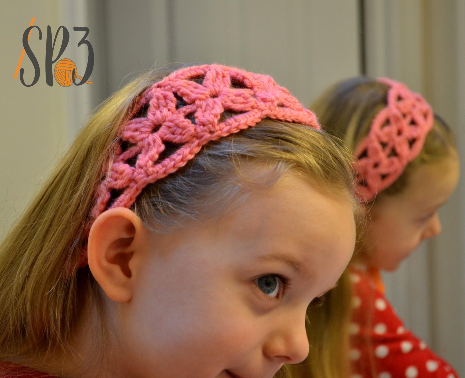 Simple Flower Headband Crochet Pattern {FREE}