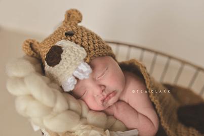 Beaver Hat & Newborn Prop