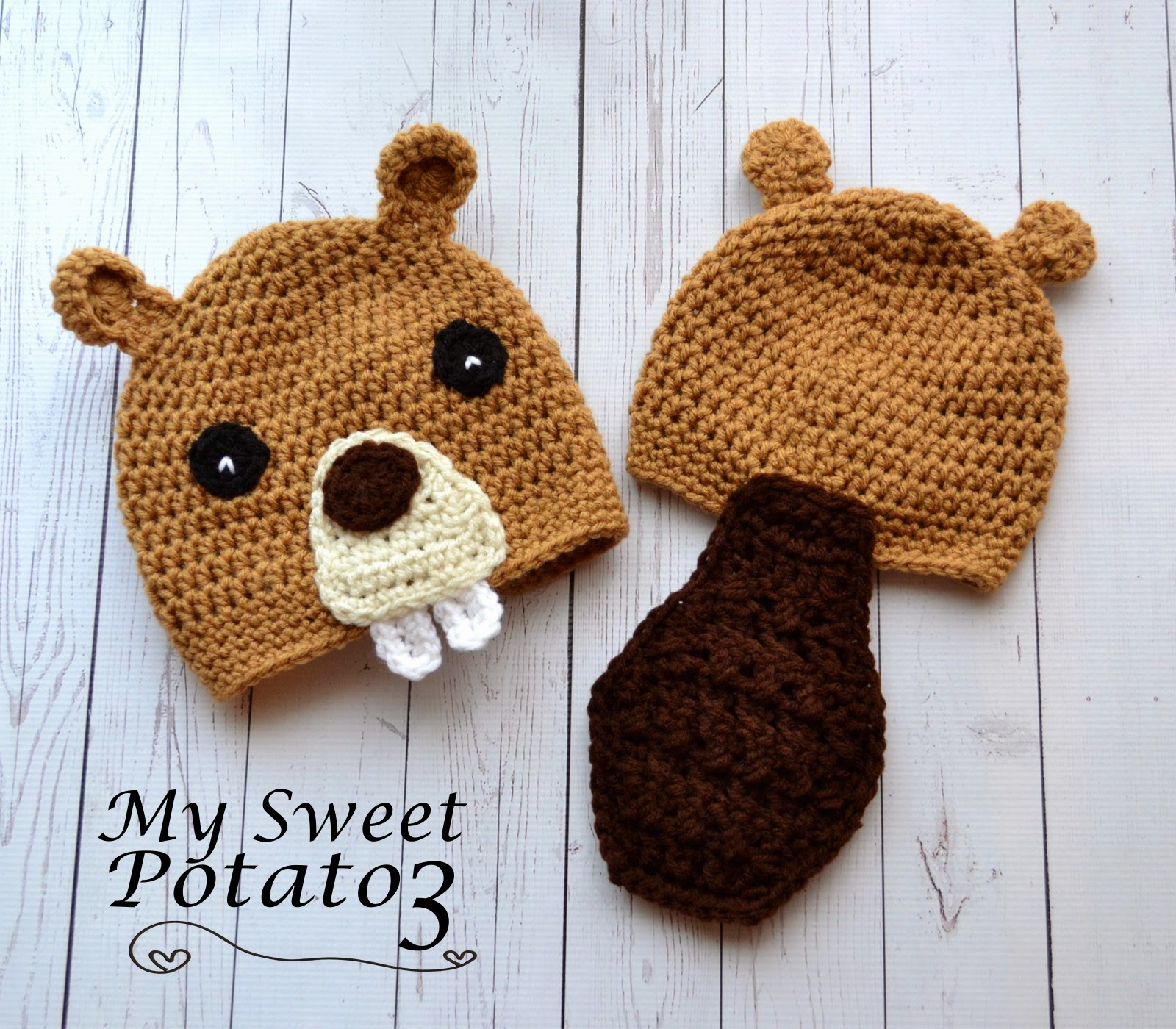 Free Crochet Beaver Hat Pattern with Tail