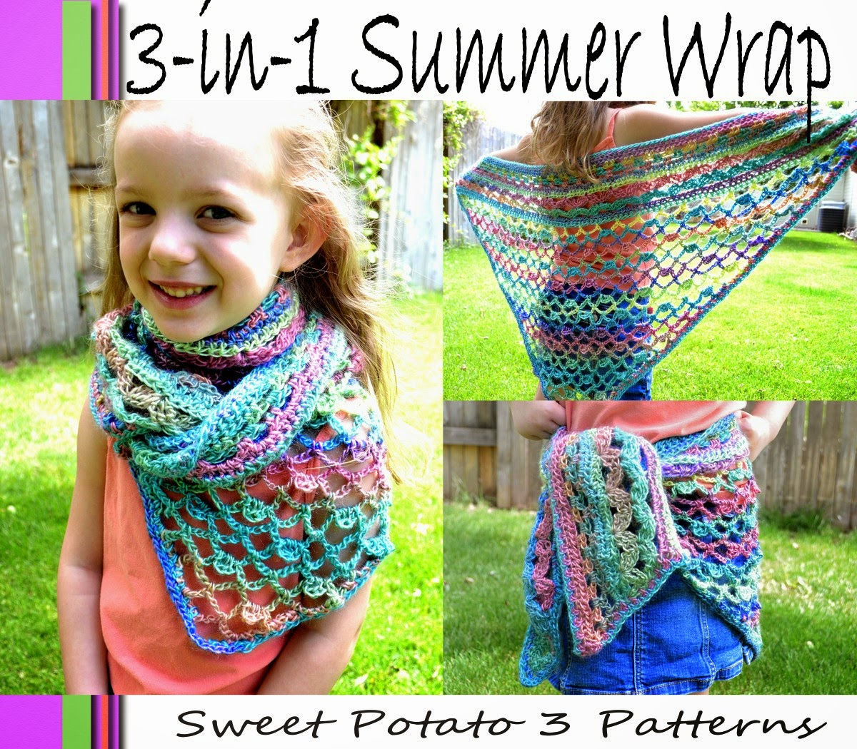 3-in-1 Summer Wrap Crochet Pattern