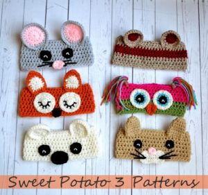 Read more about the article Animal Ear Warmer Crochet Pattern