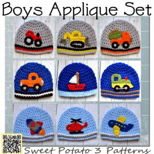 All Boy Applique Crochet Pattern