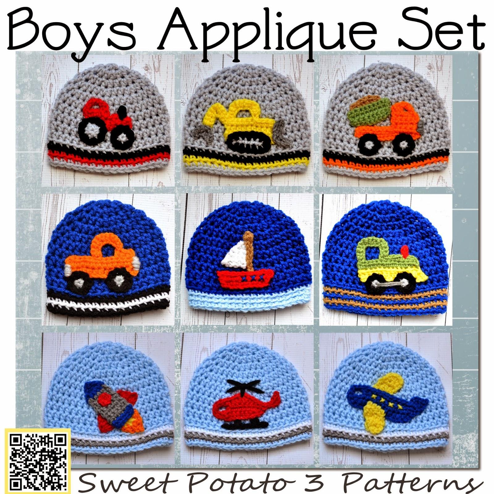 All Boy Applique Crochet Pattern