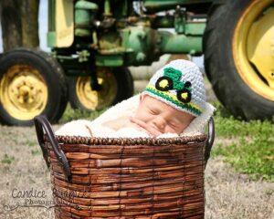 Tractor Applique Crochet Hat