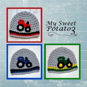 Tractor Appliques Crochet