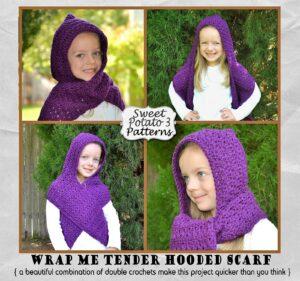 Wrap Me Tender Hooded Scarf