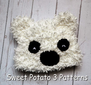 FREE Cuddly Polar Bear Hat Pattern