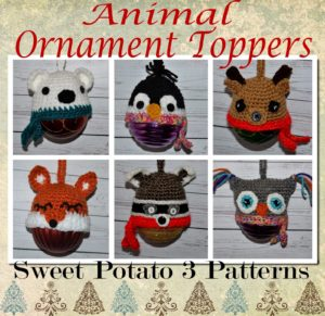 Animal Christmas Ornament / Canning Jar Toppers
