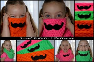 Free Mustache Cowl Crochet Pattern