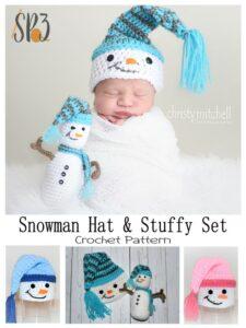 Snowman Crochet Hat & Stuffy Pattern Set