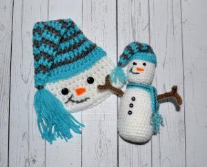 snowman crochet set