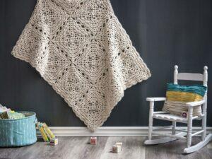 Flower Petal crochet blanket pattern