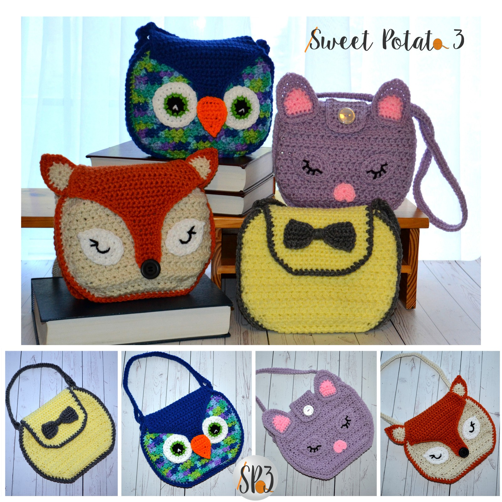 You are currently viewing Girls Handbag Pattern – Bow, Fox, Owl and Kitten