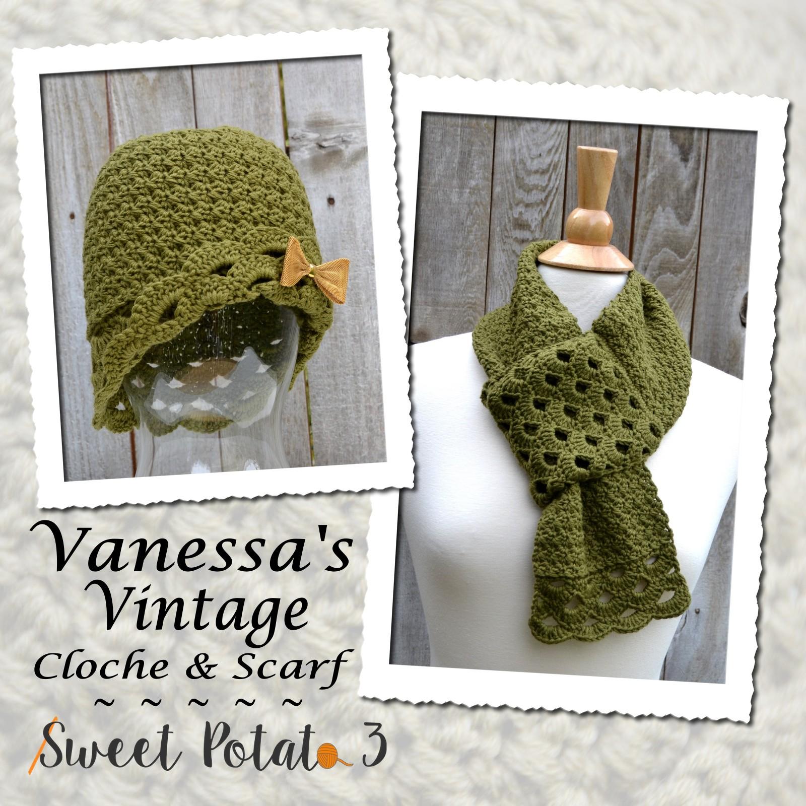 Vanessa's Vintage Cloche & Scarf