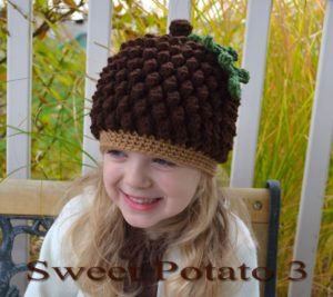 Acorn / Pinecone Hat Crochet Pattern