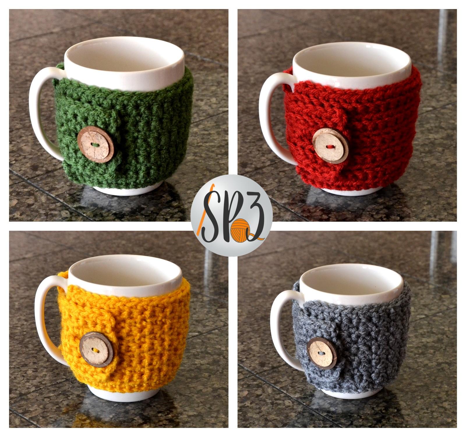 Coffee Cozy Sweater Wrap – FREE Crochet Pattern!