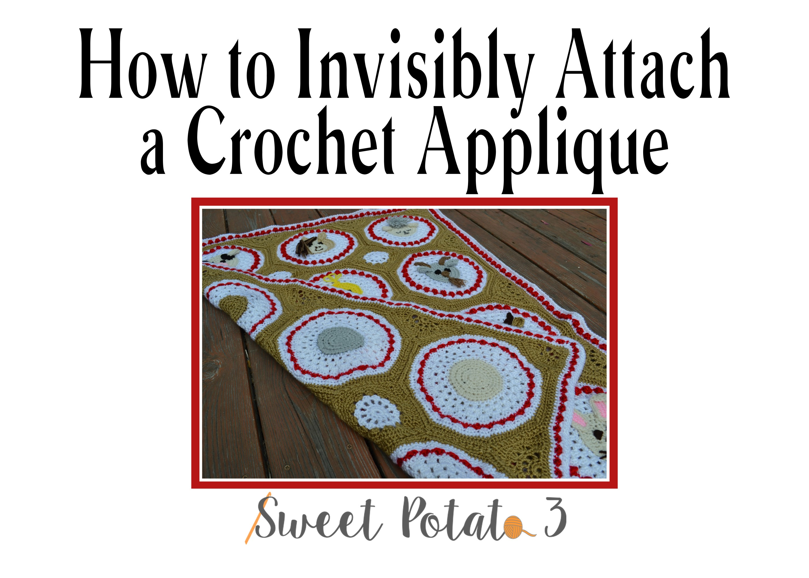 How to Invisibly Attach a Crochet Applique